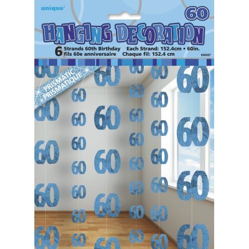 Modra viseči okras 60