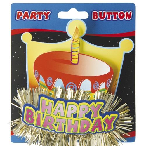 Brosche Happy birthday 3D