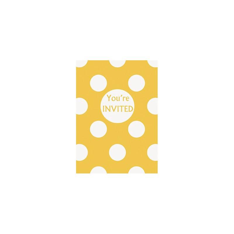 Yellow dots invitations