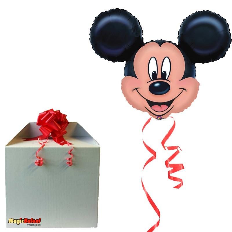Mickey Mouse jumbo balon - napihnjen