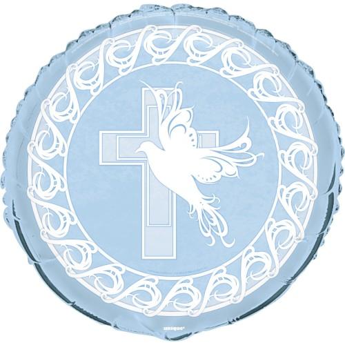 Dove cross foil balloon - blue