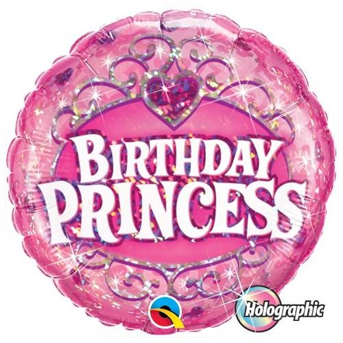 Birthday Princess - folija balon na palčki