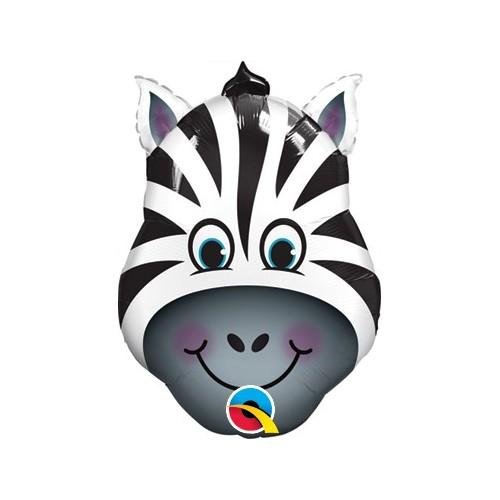 Zebra - folija balon na palčki