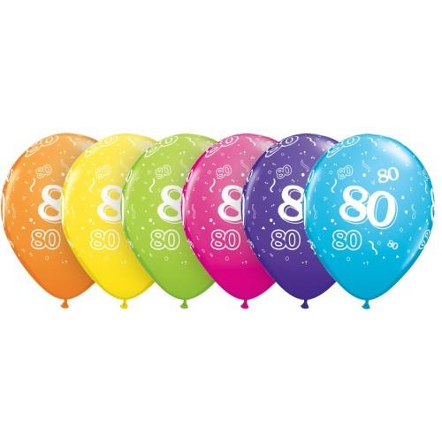 balon natisnjena 80 tropskih