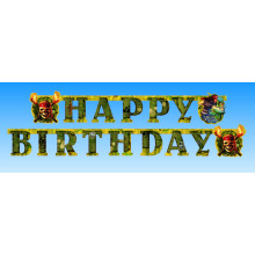 Pirati iz Karibov - Happy Birthday napis