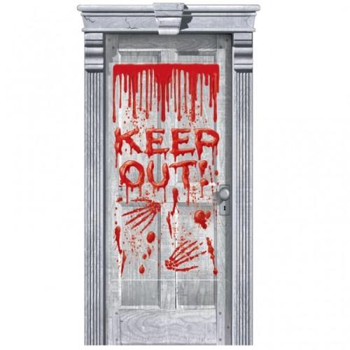 Keep out Halloween door poster