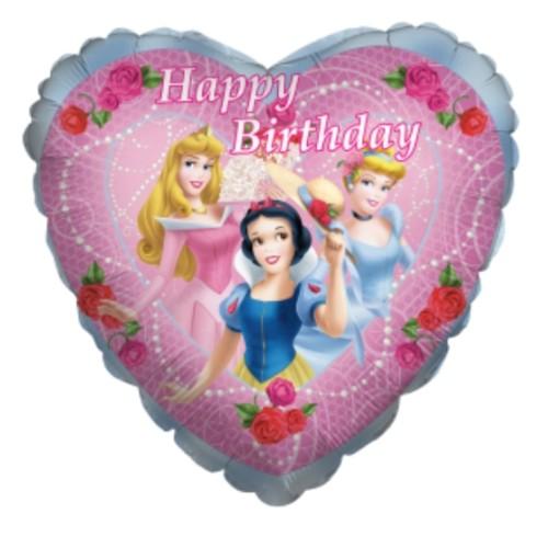 Princesses Happy Birthday balon