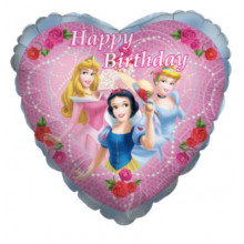 Princesses Happy Birthday balon