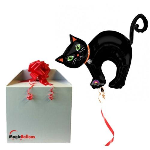 Halloween Cat - folija balon v paketu