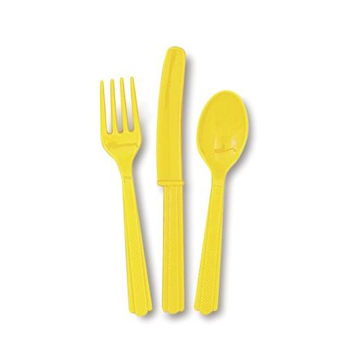 Cutlery - yellow