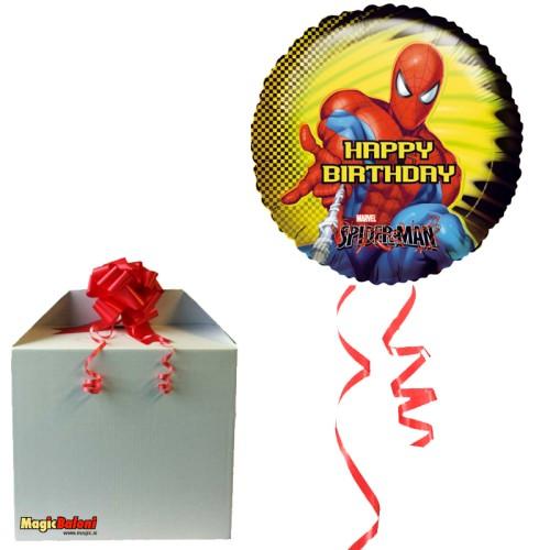 Spiderman balon - Happy Birthday - napihnjen
