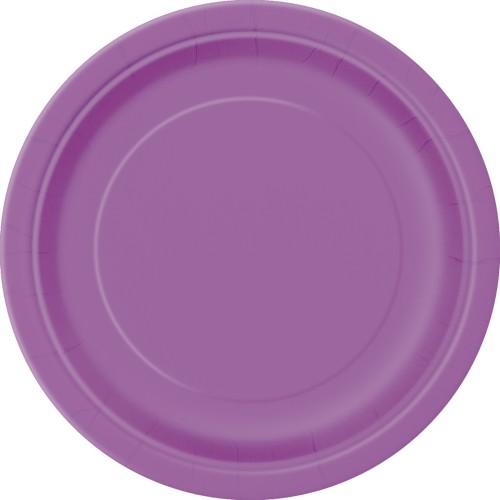 Krožniki 18cm - vijolična 20 kom