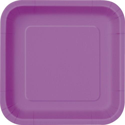 """Square plates 9"""" - Gold 14 pcs"""
