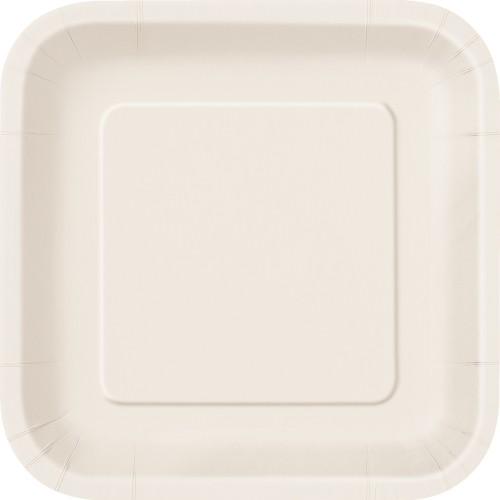 "Square plates 7"" - Pretty Purple 16 pcs"