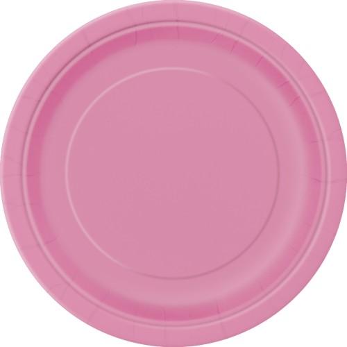 "Plates 7"" - Hot Pink 8 pcs"