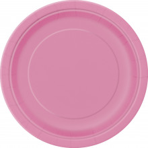 Krožniki 18 cm - živahno pink 8 kom