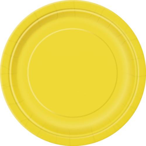 """Plates 7"""" - Royal Blue 8 pcs"""