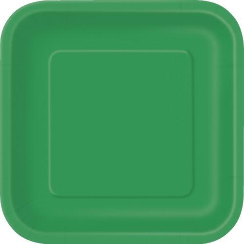Kvadratni krožniki 18 cm - vijolična 16 kom