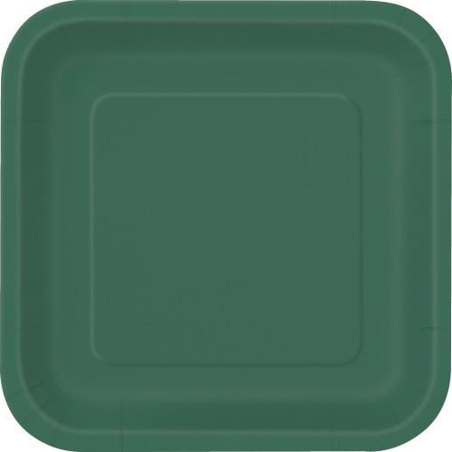 Plošča kvadrat 18cm - vijolična 16 pct