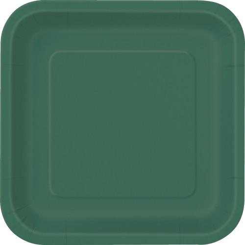 Kvadratni krožniki 23 cm - vijolična 14 kom