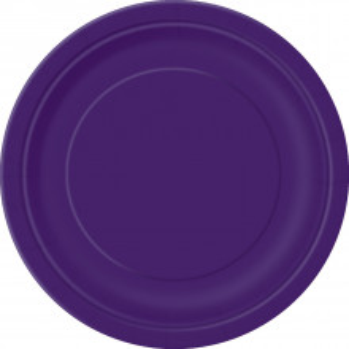 "Plates 7"" - Pretty Purple 20 pcs"