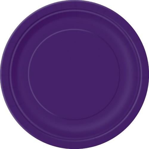Krožniki 18 cm - vijolična 20 kom