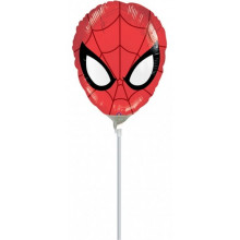 Ultimate Spiderman Head - folija balon na palčki