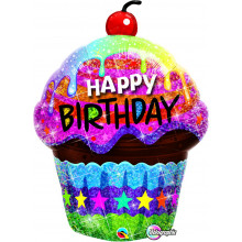 Birthday Dazzling Cupcake - folija balon