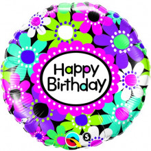 Birthday Daisy Patterns - folija balon