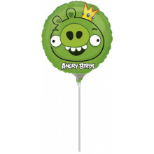 Angry Birds Pink on a stick