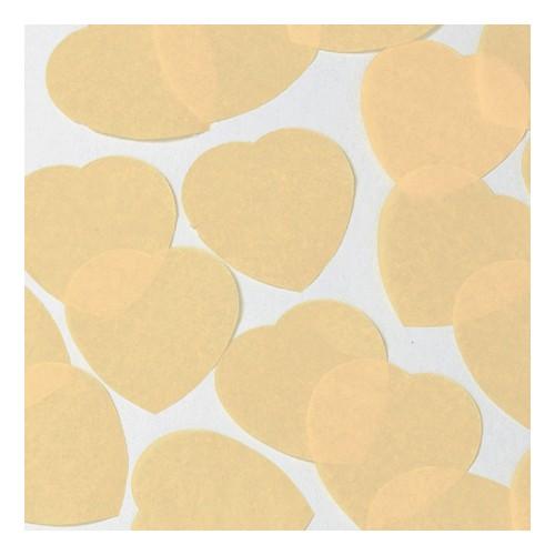 konfeti v obliki srca - šampanjec