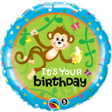 Birthday Monkeys - Go Bananas - folija balon