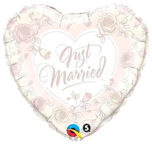 Just Married Roses - folija balon