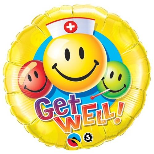 Get Well Smiley Faces - folija balon