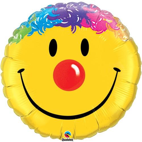 Smile Face - folija balon na palčki