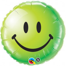 Smile Face Green - folija balon