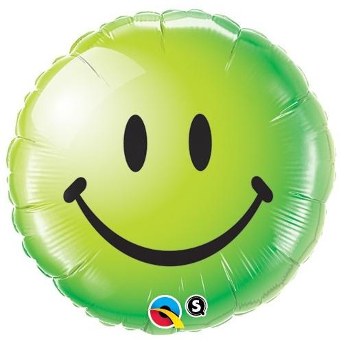 Smile Face Green - folija balon