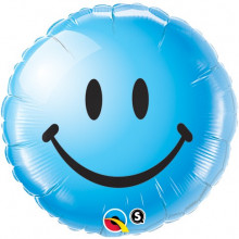 Smile Face Blue - folija balon