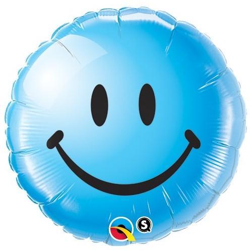 Smile Face Blue - folija balon