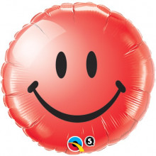 Smile Face Red - folija balon