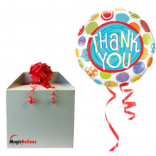 Thank You Patterned Dots folija balon v paketu