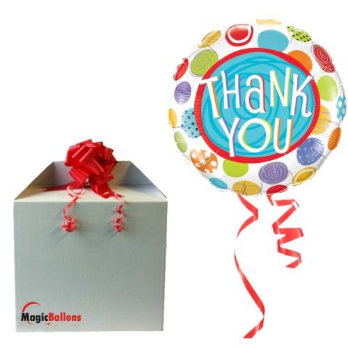 Thank You Patterned Dots folija balon v paketu