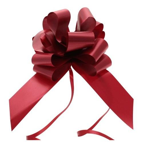 Pull bow burgundy 5 cm