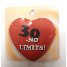 NO LIMITS button badge - Number 30