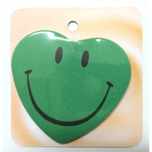 Green button badge - Smile face