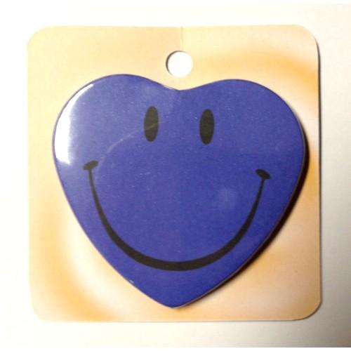 Smiley - modra priponka