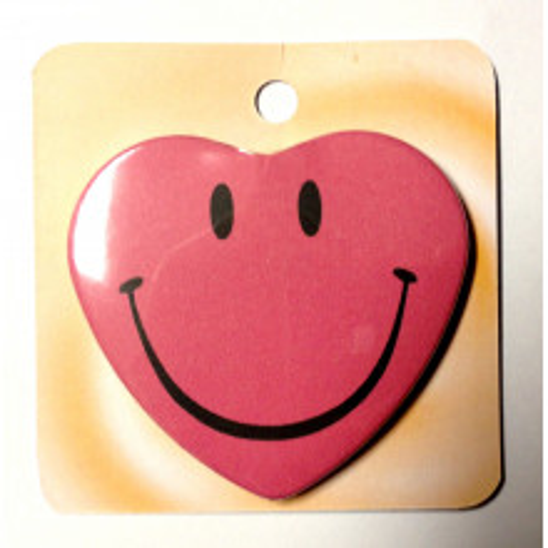 Wild berry button badge - Smile face
