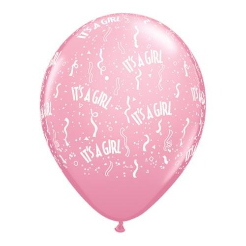 Ballon - It's a girl 12 cm