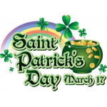 "MagicBalloons- Birthday Party-Prismatic banner ""A baby girl!""Saint Patrick's day"