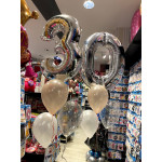 Balloons for 30th birthday